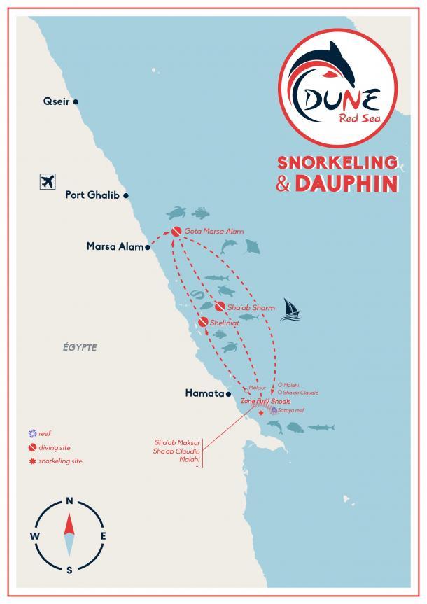 Itinéraire croisière snorkeling et dauphins en Egypte - Mer Rouge