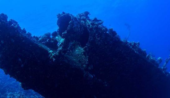Le Carnatic reposant à 24 mètres de profondeur