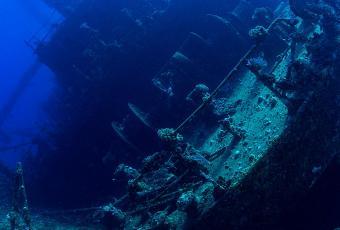 Epave du Giannis sur l'itinéraire plongée Nord Ras Mohamed
